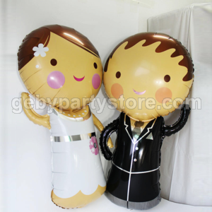 BRIDE AND GROOM FOIL BALLOON (SET 2pcs)