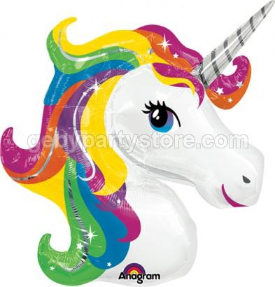 UNICORN RAINBOW FOIL BALLOON 33""