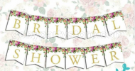 Bridal Shower White Bunting Flag Banner