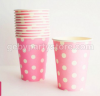 SOFT PINK POLKADOT PAPER CUP