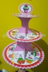 TIERS CUPCAKES COLOR CAKES (3 SUSUN)